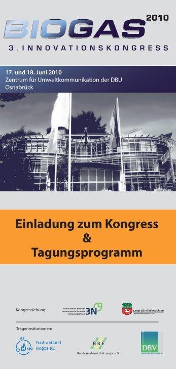 Tagungspro gramm 18.06.2010 - Biogas-Innovationskongress