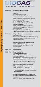 Tagungspro gramm 18.06.2010 - Biogas-Innovationskongress - Seite 2