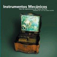 Catálogo Exposición Instrumentos Mecánicos - Sala de ...