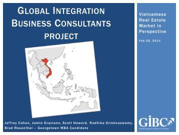 Global Integration Business Consultants project - gibc