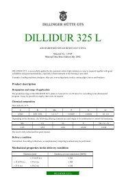 DILLIDUR 325 L - Dillinger Hütte GTS