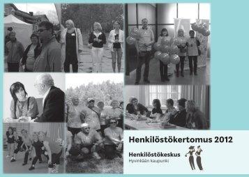 Henkilöstökertomus 2012 - Hyvinkaan kaupunki