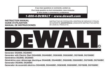 1-800-4-DEWALT • www.dewalt.com - Northern Tool + Equipment