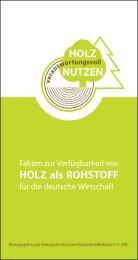 HOLZ als ROHSTOFF - Greenbuilding