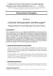 Tierische Nebenprodukte sind Bioenergie - STN ...