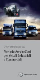 MercedesServiceCard per Veicoli Industriali e Commerciali.