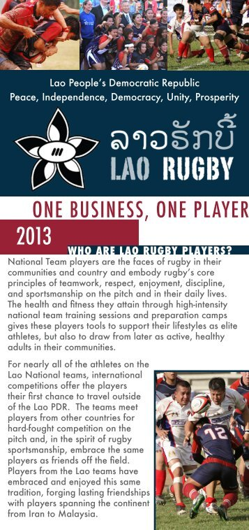 Get involved and support OBOP - Lao Rugby Federation