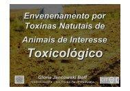 Envenenamento por Toxinas Naturais de Animais de ... - SOVERGS