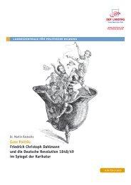 Friedrich Christoph Dahlmann und die Deutsche Revolution 1848 ...