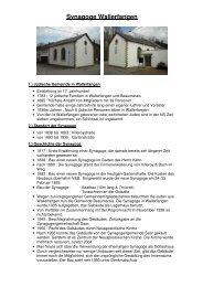 3. Geschichte der Synagoge