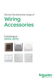 Wiring Accessories Catalogue 2009-2010 - Schneider Electric