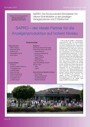 SAPRO – der ideale Partner für die Anzeigenproduktion auf hohem ...