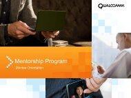 Mentorship Program - Qualcomm