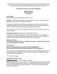 Regular Meeting March 13, 2012 7:00 PM Call to ... - Streetsboro