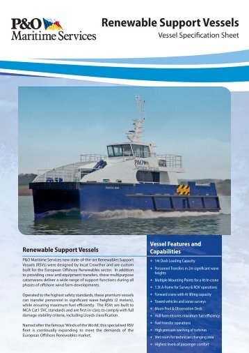 Renewable Support Vessels - P&O Maritime Services