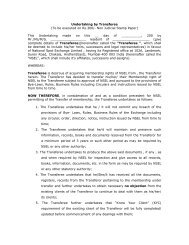 Undertaking by Transferee (To be executed on Rs.300/- Non ...