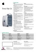 Power Mac G4 Data Sheet - Quentin - Page 2