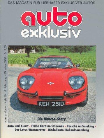 1986 - Auto Exklusiv - Die Marcos Story - Swiss Marcos Club