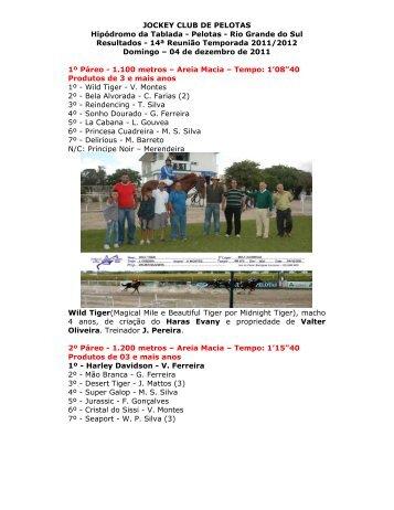 Tablada – Resultados 04/12/11 - Planeta Turfe