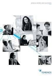 ANNUAL REPORT AND ACCOUNTS 2011 - Temenos