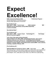 KASL Annual Conference 2009 Preliminary Program Kansas ...