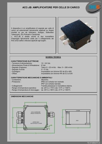 ACC-JB: AMPLIFICATORE PER CELLE DI CARICO - 3b6.it