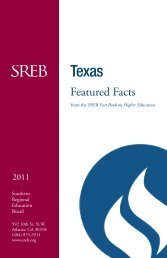 Featured Facts - Southern Regional Education Board