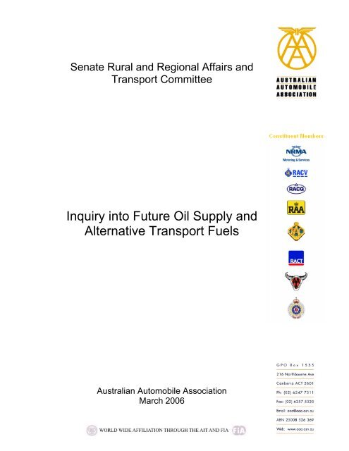 Inquiry into Future Oil Supply and Alternative Transport Fuels