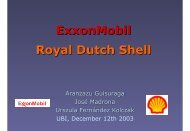 ExxonMobil Royal Dutch Shell