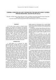 thermal oxidation as a key technology for high efficiency ... - RASIRC