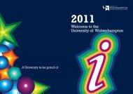 Welcome Week - University of Wolverhampton