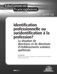 Identification professionnelle ou suridentification à la ... - acelf
