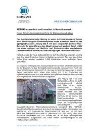 Die Firma Wenz Kunststoff vertreibt nun eine Kühlanlage, die den ...
