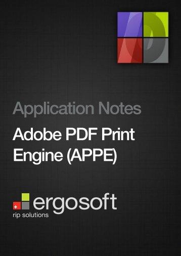 Adobe PDF Print Engine (APPE)