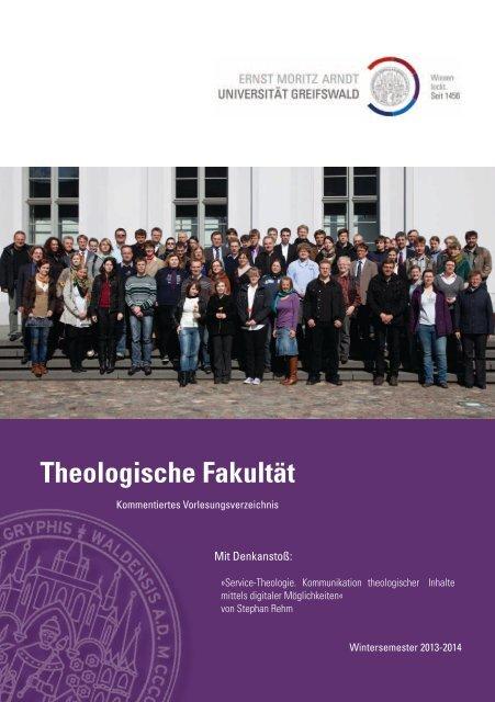 Kommentiertes Vorlesungsverzeichnis WS 2013/14 - Theologischen ...