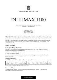 DILLIMAX 965 (englisch) - Dillinger Hütte GTS