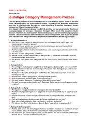 8-stufiger Category Management-Prozess - Tobler + Tobler