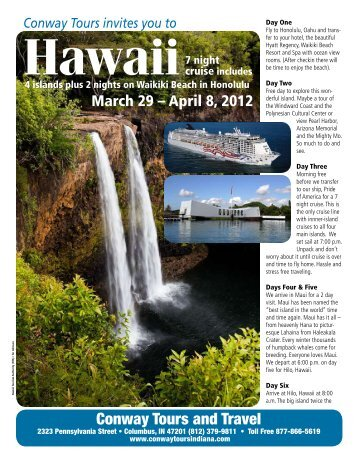 Hawaii - Conway Tours in Columbus, Indiana