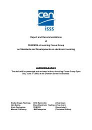 Report and Recommendations of CEN/ISSS e-Invoicing Focus ...