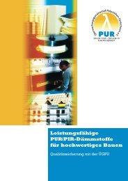 Leistungsfähige PUR/PIR-Dämmstoffe für hochwertiges Bauen