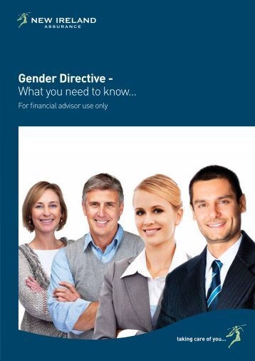 Gender Directive - What you need to know... - New Ireland Assurance