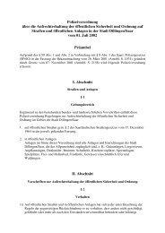 Polizeiverordnung über die Aufrechterhaltung der ... - Stadt Dillingen