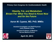 Obesity, Fat, and Metabolism - Dr Cypess.pdf - Joslin Diabetes Center