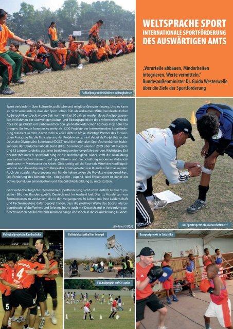 Ausstellung Weltsprache Sport - Sport - Auswärtiges Amt
