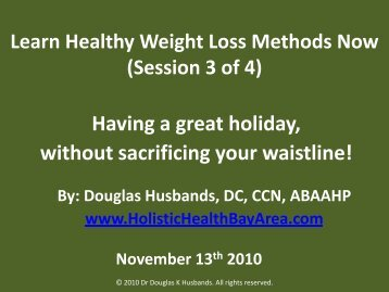 Healthy Weight Loss - Holistic Health Bay Area