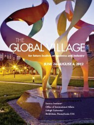 The Global Village - Iacocca Institute
