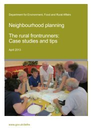 Neighbourhood planning The rural frontrunners: Case studies and tips