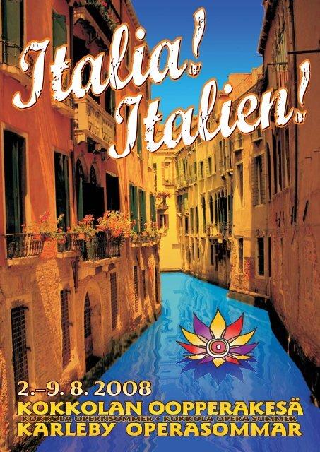 ITALIA! -ohjelmalehti - West Coast Kokkola Opera