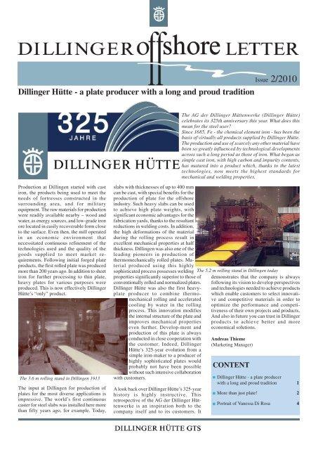 Offshore Letter 2 2010 - Dillinger Hütte GTS