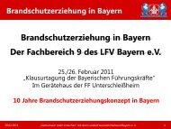 Brandschutzerziehung in Bayern - Landesfeuerwehrverband Bayern